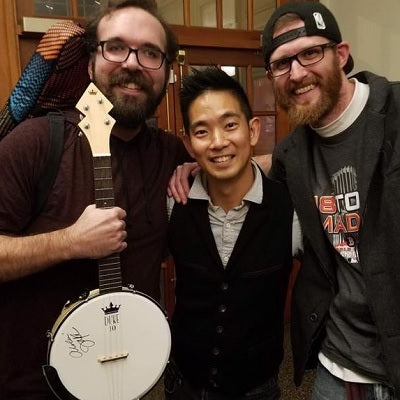 Jake, Jake and a DUKE10 Banjo Uke