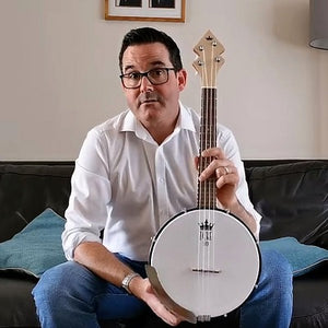 DUKE10 Banjo Ukulele - Strums Like A Uke, Picks Like A Banjo