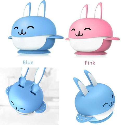 Cute bunny blue and red