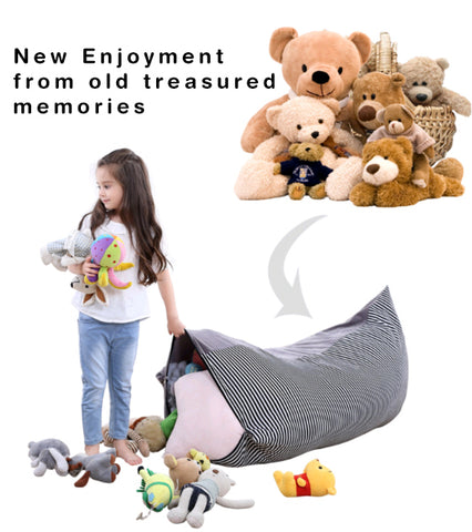 keep your kids memory with muchi the stuff animal storage bean bag