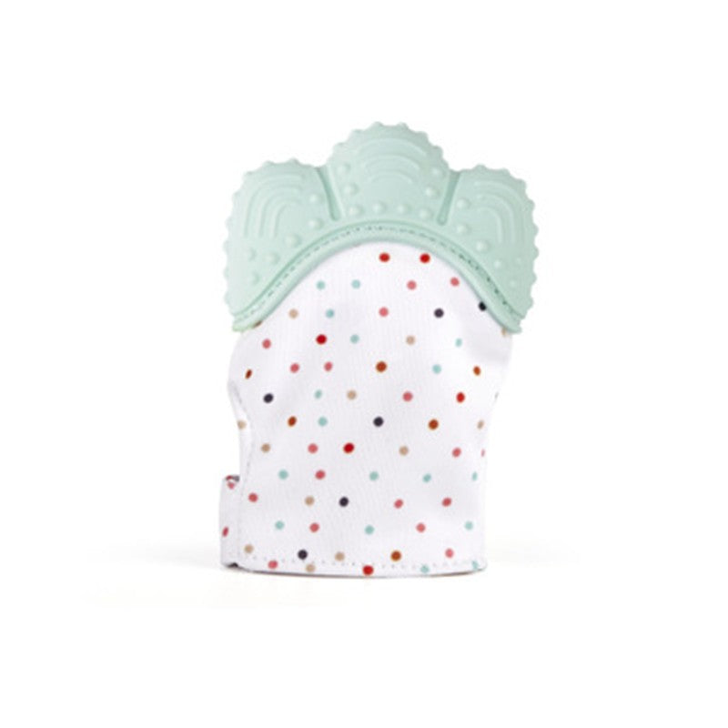Teething Mittens for Babies Self-Soothing Pain Relief  BPA FREE Safe Food Grade Teething Mitt - Exceptional Gear