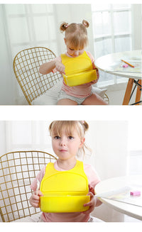 Portable Food Container Baby Bibs Waterproof Feeding Soft Plastic Baby Aprons - Exceptional Gear