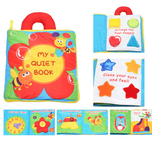 Multifunctional flower three-dimensional cloth book baby puzzle book, handle, color recognition, shape, dressing - Exceptional_Gear