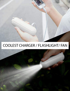 Teddy™ Multi-functional Rechargeable Portable Power Bank Fan Flashlight - Exceptional_Gear