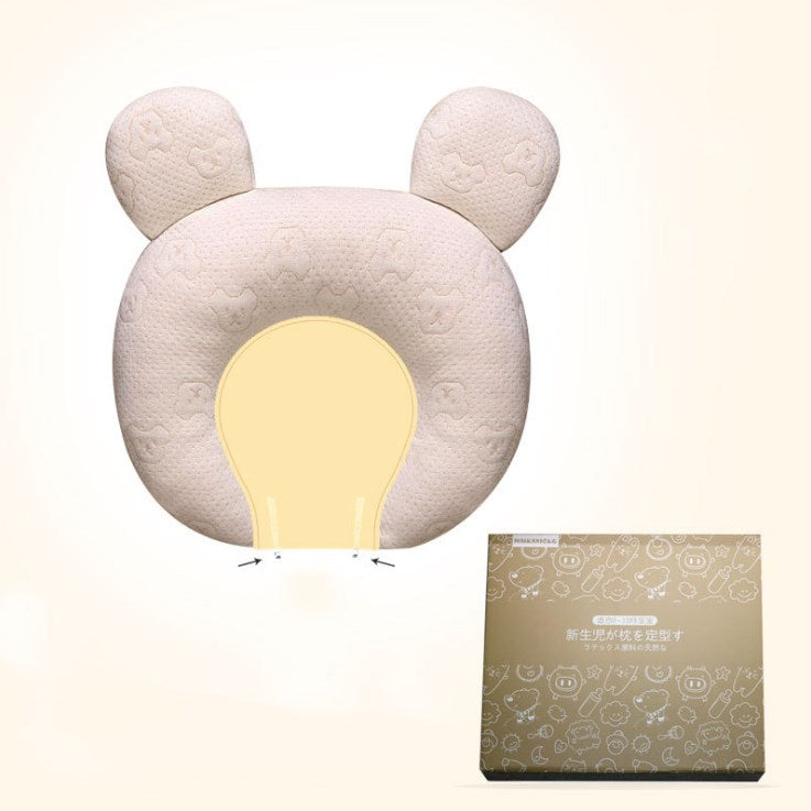 Newborn Baby Head Shaping Pillow Latex Cushion for Flat Head Syndrome Prevention - Exceptional Gear