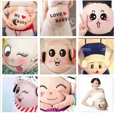 Cute Belly Stickers 9pcs Set - Exceptional Gear