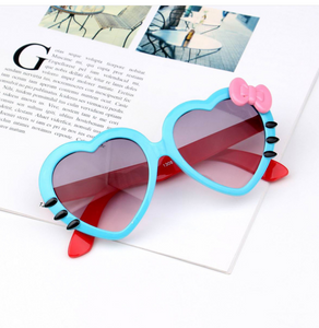 Cutest Heart Shape Bow Knot Kids Sunglasses - Exceptional Gear