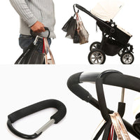 Heavy Duty Carabiner Stroller Hook Hanger - Exceptional Gear