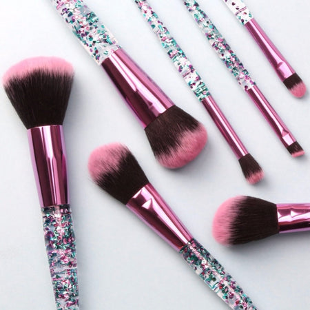 Crystal Sequin 7 Piece Makeup Brush Set