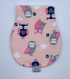 Pink Owls Burp Cloth
