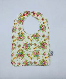 Birds & Flowers Large Feeding/Dribble Bib