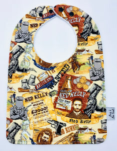 Ned Kelly Large Feeding/Dribble Bib