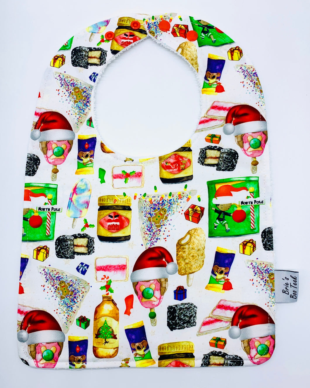 Christmas Aussie Icons Large Feeding/Dribble Bib