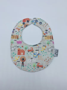 Farm Yard Newborn Bib