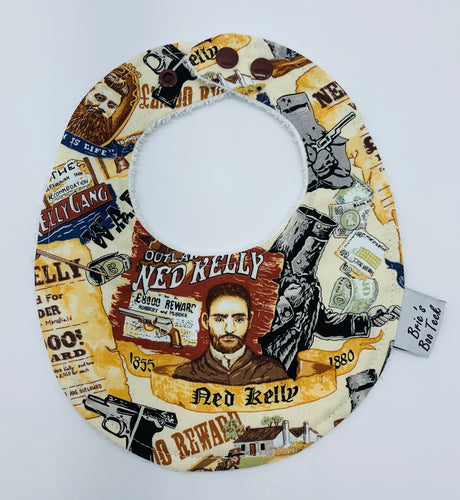 Ned Kelly Newborn Bib