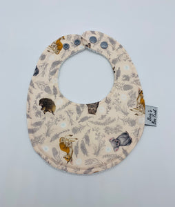 Pink Native Animals Newborn Bib