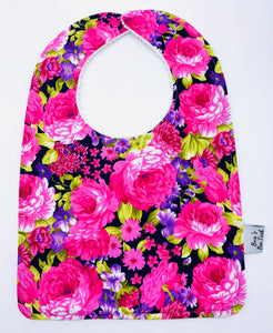 Pink Roses Large Feeding/Dribble Bib