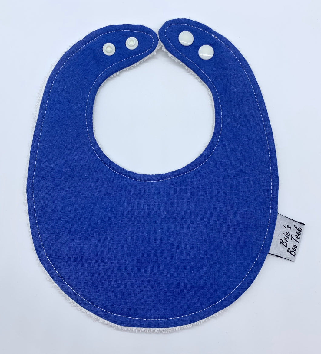 Blue Newborn Bib