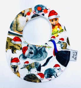 Christmas Aussie Animals Newborn Bib