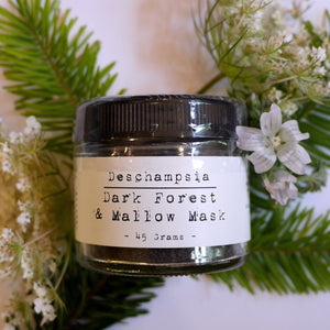 Dark Forest & Mallow Face Mask - Deschampsia - Nature Based Self Care