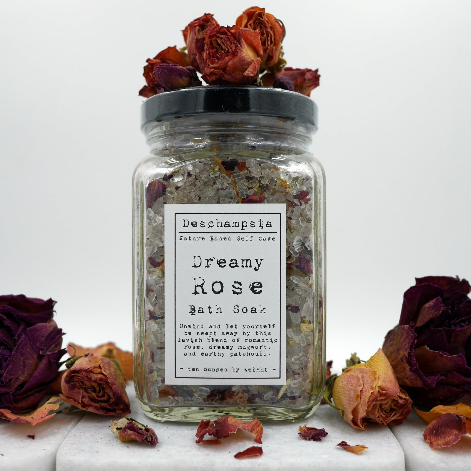 Dreamy Rose Bath Soak - Deschampsia - Nature Based Self Care