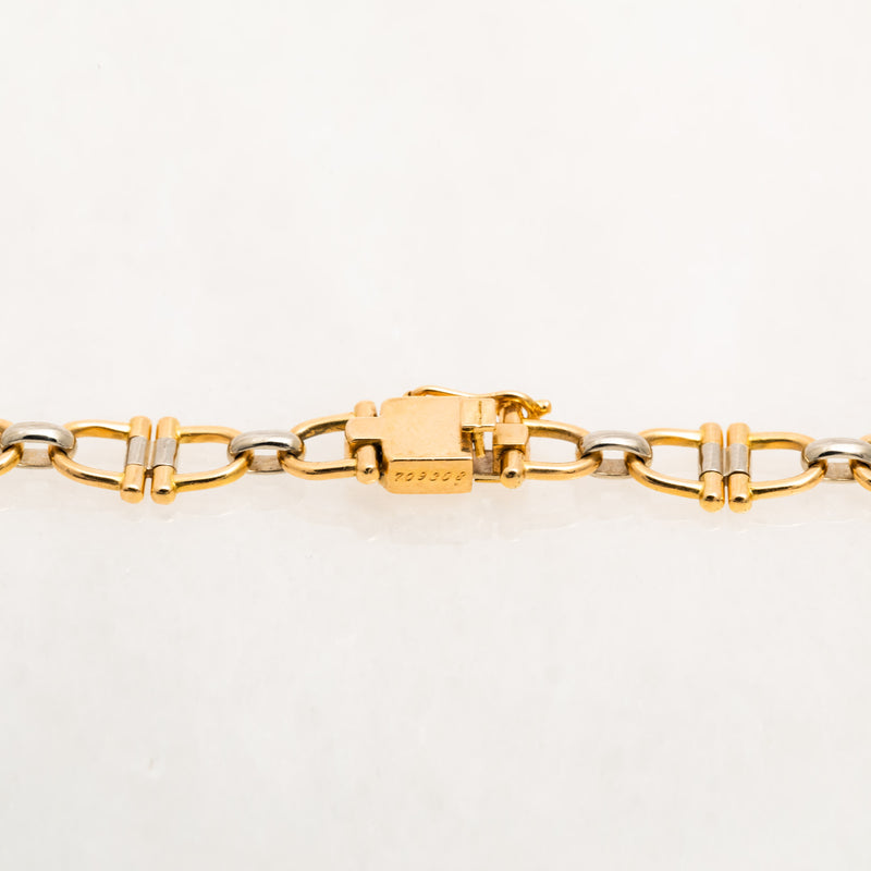 Cartier Equestrian Necklace 18K Yellow Gold, 18K White Gold, Vintage, 18""