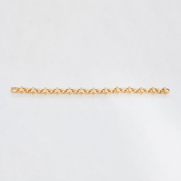 Oval Chain Bracelet 18K Yellow Gold, Medium Link, 7.25""