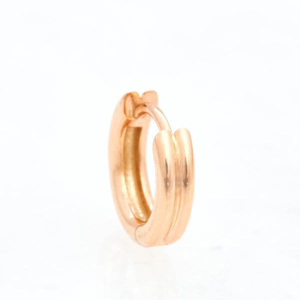 Double Link Huggies, 18k Yellow Gold, Small