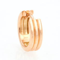 Triple Link Huggies, 18k Yellow Gold, Large