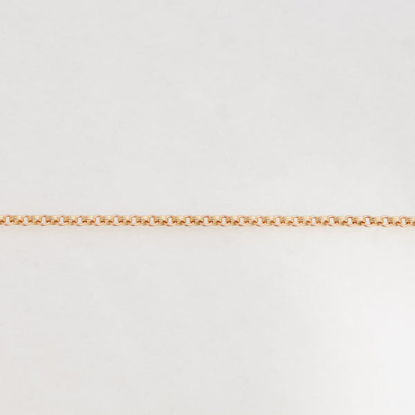 DOUBLE CHAIN BRACELET 18K YELLOW GOLD, 18K ROSE GOLD, SMALL LINK, 7.25""