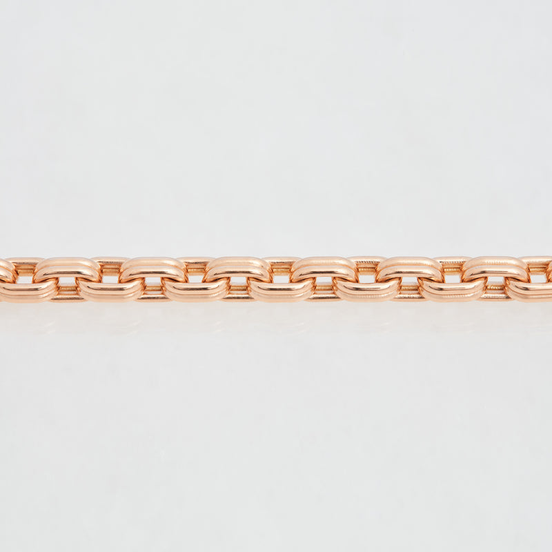 Connector Chain Bracelet 18K Rose Gold, Medium Link, 7.25""