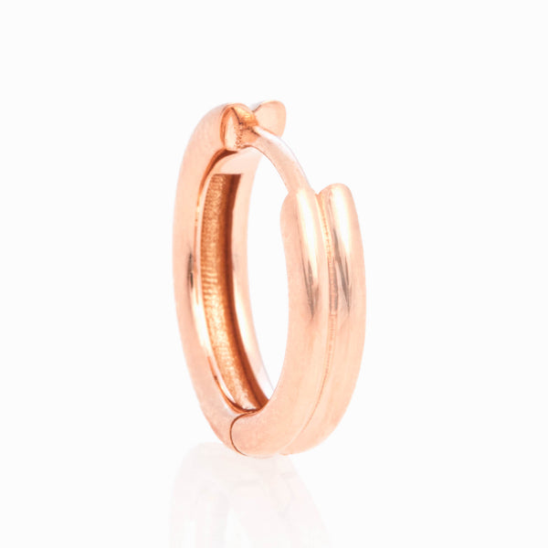 Double Link Huggies, 18k Rose Gold, Large