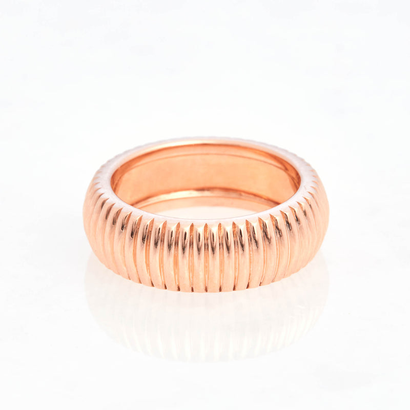 Barre Ring 18K Rose Gold, Medium