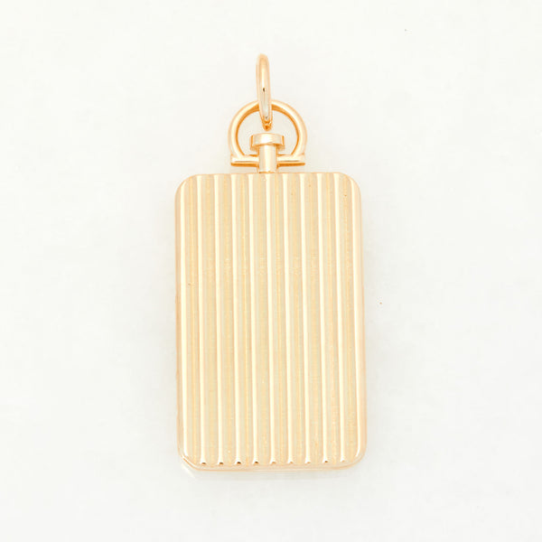 Rectangle Barre Photo Locket 18k Yellow Gold