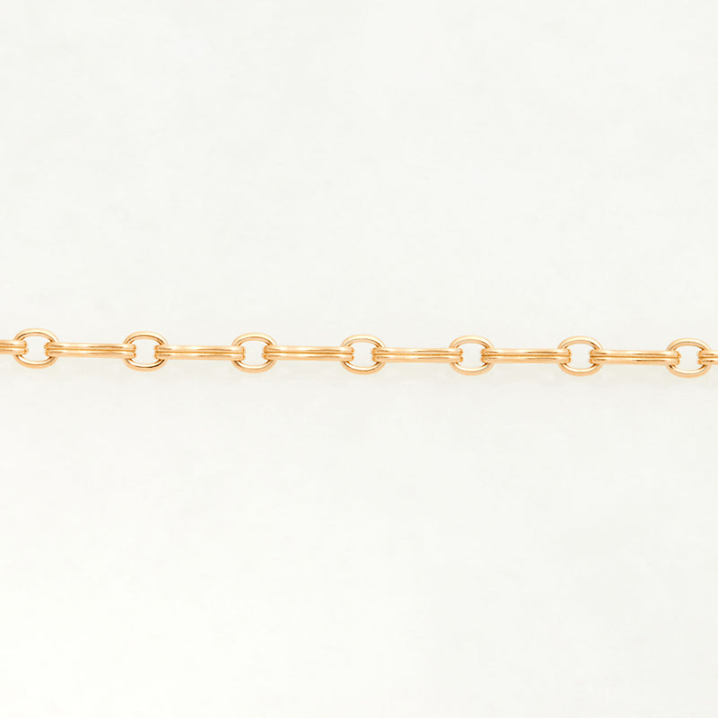 Column Chain Necklace 18K Yellow Gold, Small Link, 18""