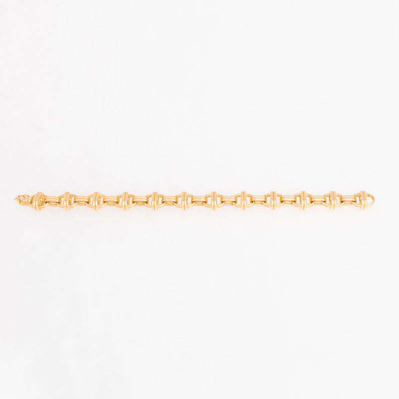 Oval Chain Bracelet 18K Yellow Gold, Large Link, 7.75""
