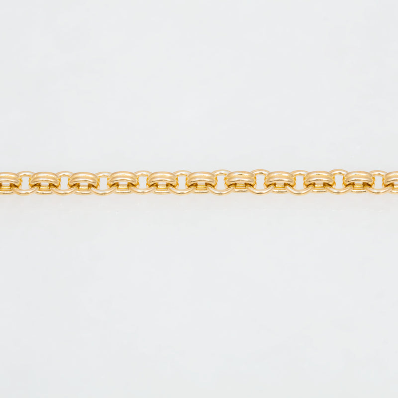 Double Chain Necklace 18K Yellow Gold, Small Link, 34""
