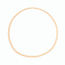 Triple Chain Necklace 18K Yellow Gold, 18k Rose Gold, Small Link, 15""