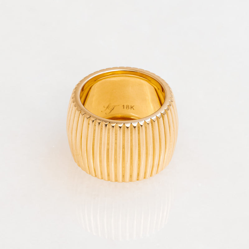 Barre Ring 18K Yellow Gold, Wide