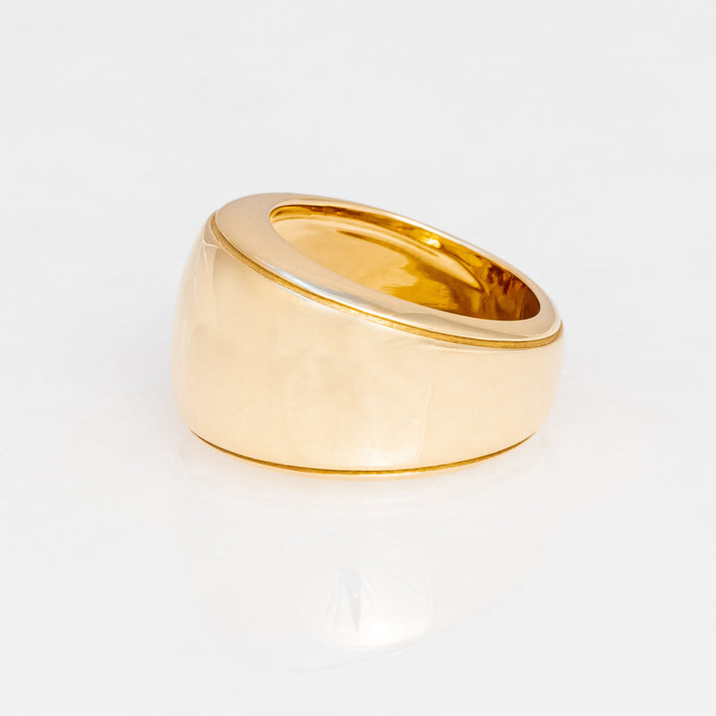 Cigar Ring 18K Yellow Gold