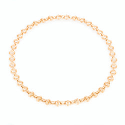 Oval Chain Necklace 18K Yellow Gold, Large Link, 16""