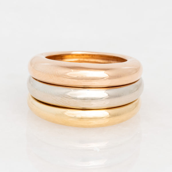 Cartier Trinity Ring 18K Yellow Gold, 18K Rose Gold, 18K White Gold,  Circa 1994, Vintage, Size 6