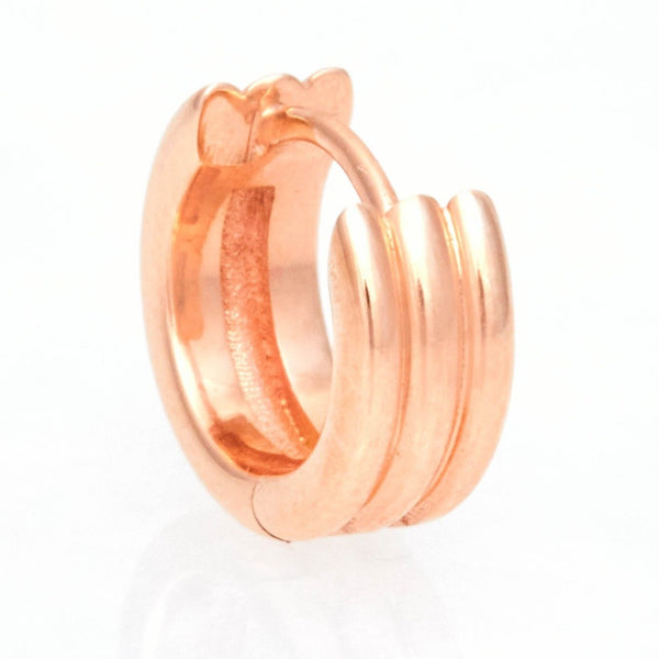 Triple Link Huggies, 18k Rose Gold, Large