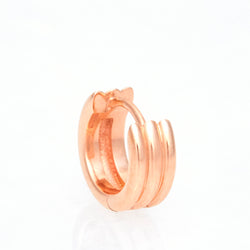 Triple Link Huggies, 18K Rose Gold, Small