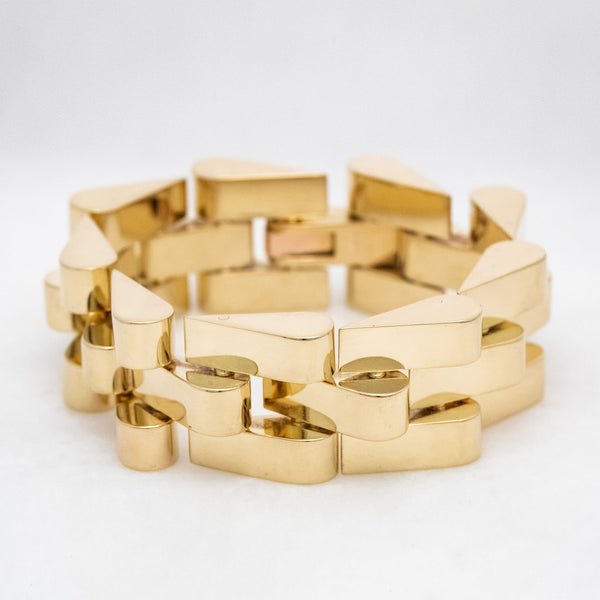 Keyboard Link Bracelet 18K Yellow Gold, Vintage