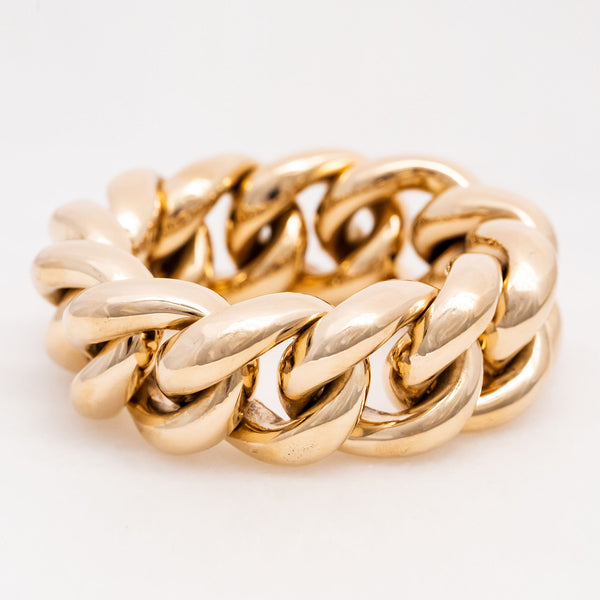 Chunky Curb Link Bracelet 14K Yellow Gold, Vintage