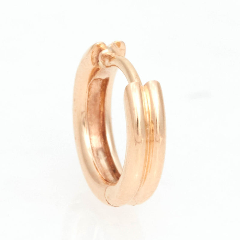 Double Link Huggies, 18k Yellow Gold, Medium