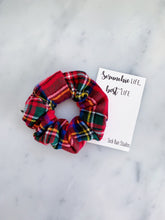 Load image into Gallery viewer, Scottish Tartan Flannel Scrunchie