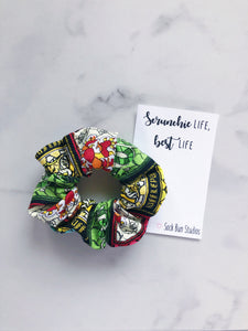 Stained Glass Hogwarts Scrunchie