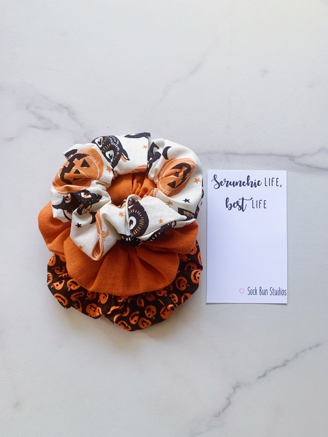 Vintage Halloweeen Scrunchie Pack